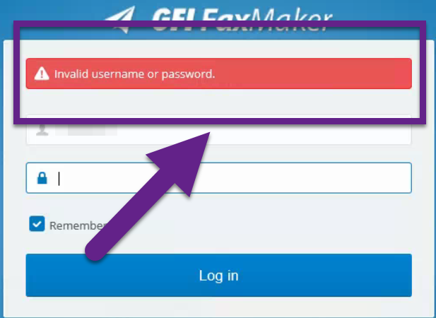 Users are Unable to Log in to the Faxmaker Web Interface - Invalid Username  or Password – GFI FaxMaker Support